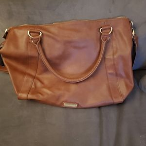 Steven Madden Large Brown Leather Bag - brown and